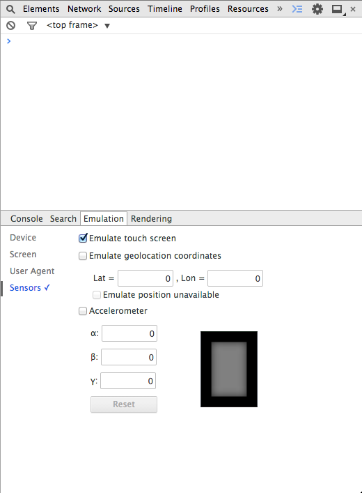Emular pantalla táctil en Google Chrome
