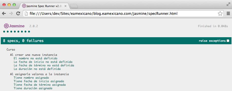 Visualizar specRunner en el navegador