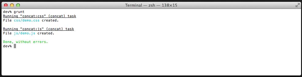 Utilizar grunt para concatenar archivos