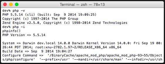Revisar instalación de php en el sistema.