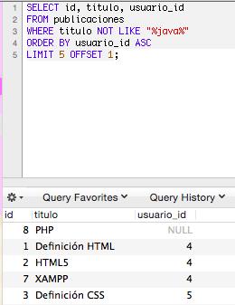 Utilizar limit con order by y filtrar registros