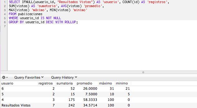 Agregado de datos con GROUP BY